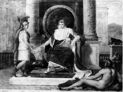 Napoléon remet à Rome le code des lois
