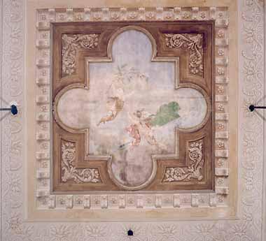 Aile Napoléonienne, place Saint-Marc <br>Vestibule : fresque du plafond