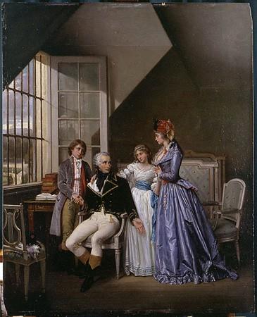 Visite de Joséphine (sic) de Beauharnais à son mari Alexandre détenu au Luxembourg