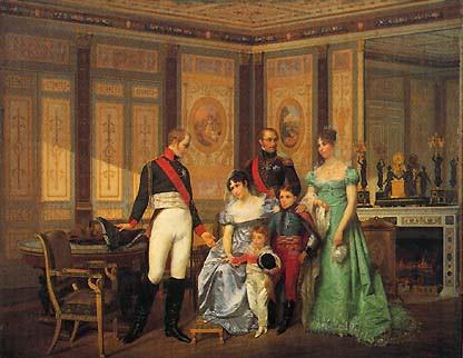 L'Impératrice Joséphine reçoit à la Malmaison la visite de l'empereur Alexandre