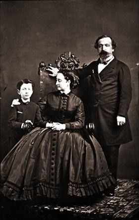 The Imperial family: Napoleon III, the Empress Eugénieand the Prince Imperial.