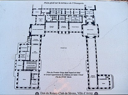 Plan Of The Ground Floor Of The Ch 226 Teau De Saint Cloud