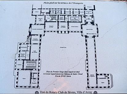 Plan Of The Ground Floor Of The Ch Teau De Saint Cloud
