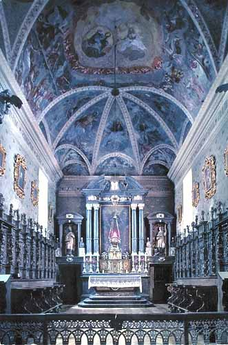 Interior of the chapel of the Hospice du Grand-Saint-Bernard
