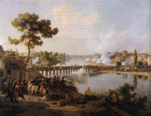 Le général Bonaparte donne ses ordres à la bataille du pont de Lodi, 10 mai 1796