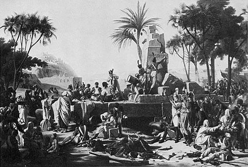 Halte de l'armée française à Syène (Haute-Egypte) 2 février 1799