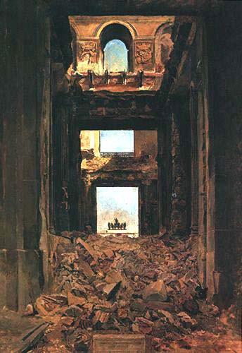 Les ruines des Tuileries