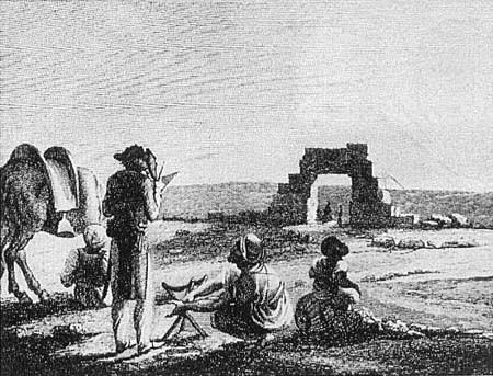 Dominique Vivant Denon aux ruines d'Hiéraconpolis