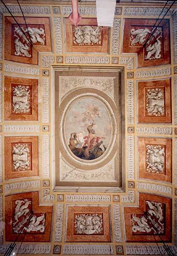 Aile Napoléonienne, place Saint-Marc <br>Plafond du grand escalier d'honneur : La Gloire de Neptune<br>