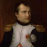 Portrait de l'Empereur Napoléon Ier portant plaque et étoile de la Légion d'Honneur, et Croix de fer