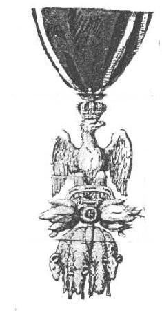 (Musée de la Légion d'Honneur) Projet de décoration pour l'Ordre Impérial des Trois Toisons d'Or.
