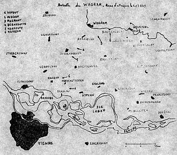 Bataille de WAGRAM - Axes d'attaques le XX