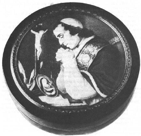 Photographie de la tabatière offerte par Pie VII au général Radet le 6 juillet 1809.