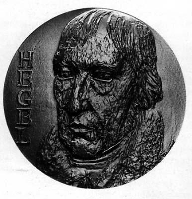 Hegel, médaille gravée par Marcel Chauvenet, Monnaie de Paris. Photo Tallandier.