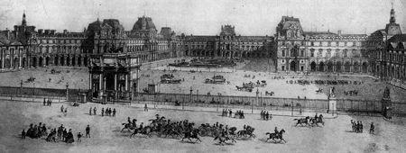 La Place du Carrousel en 1867. Cabinet des Estampes B.N.