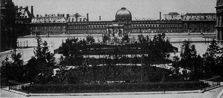 Palais des Tuileries. Vue prise vers 1865. © Photothèque Tallandier.