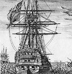L'embarquement de Napoléon pour Sainte-Hélène