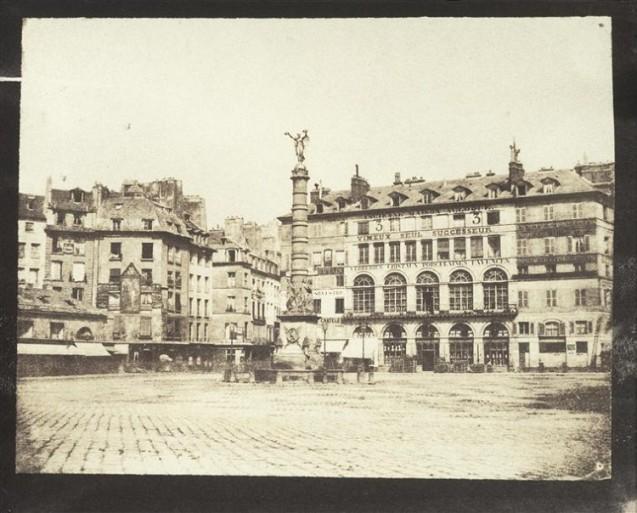 La fontaine du Palmier sur l'ancienne place du Châtelet 1851, par Hippolyte Bayard de Molard Louis Adolphe Humbert © Musée d'Orsay, RMN-Grand Palais - Patrice Schmidt