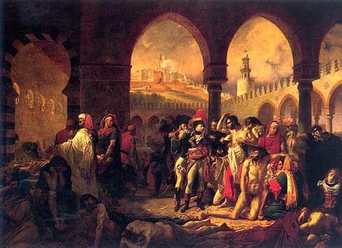 Bonaparte visiting the plague victims of Jaffa