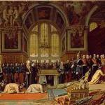 Réception des ambassadeurs siamois par l'empereur Napoléon III au palais de Fontainebleau