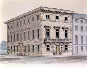 L'Athenaeum de Philadelphie, vue depuis l'angle de rue (1848) © PhilaAthenaeum.org