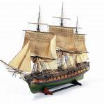 Scale model of the frigate La Muiron