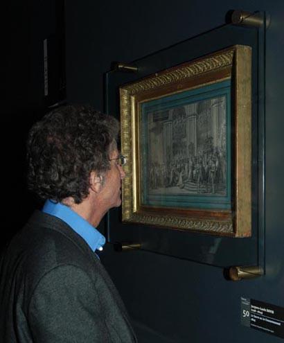 M. le ministre Jack Lang admire l'étude du sacre de David © Fondation Napoléon