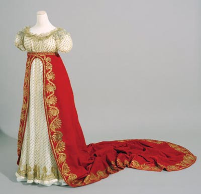 Dress and train worn on the day of Napoleon's coronation