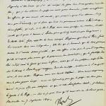 Lettre de Napoléon à Champagny, ministre des Relations extérieures