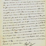 Letter from Napoleon to Champagny, Minister for Foreign Affairs