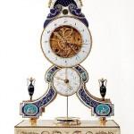 Revolutionary period skeleton clock
