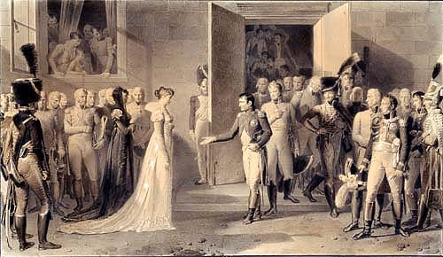 The arrival of Marie-Louise in Compiègne