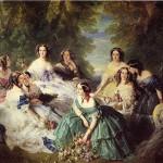 L'impératrice Eugénie entourée de ses dames d'honneur