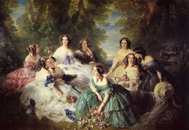 The Empress Eugénie surrounded by her ladies in waiting