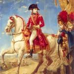 Bonaparte Premier Consul distribue des sabres d'honneur aux grenadiers de sa garde après la bataille de Marengo le 14 juin 1800