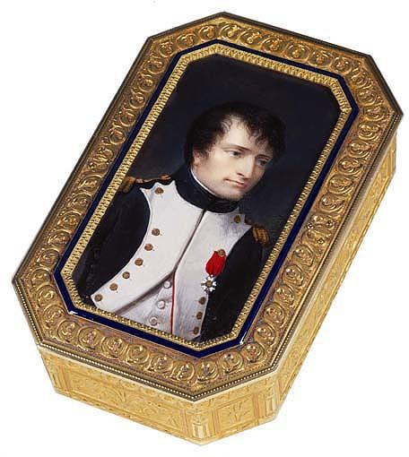 Portrait de Napoléon : miniature montée sur une boîte