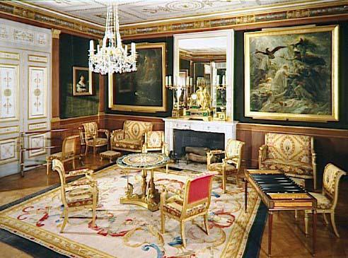 the furniture in the salon dor at the ch teau de malmaison. Black Bedroom Furniture Sets. Home Design Ideas