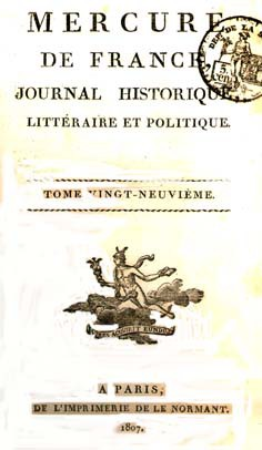 Mercure de France, T. 29, 4 juillet 1807