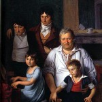 Portrait d'un homme et de ses enfants