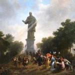 L'impératrice Joséphine et sa suite visitant la statue de saint Charles Borromée