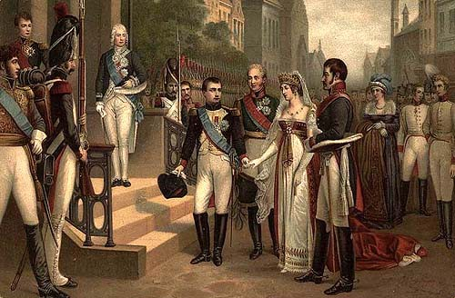 Napoleon I receiving Queen Luise of Prussia at Tilsit (6 July, 1807)