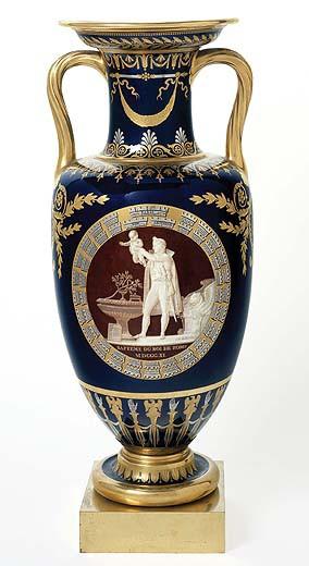 Vase étrusque carafe, baptême du roi de Rome