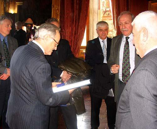 Le prince Murat, M. l'Ambassadeur, le général Bresse, le prince d'Essling, le préfet Mehnert