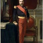Portrait en pied de Napoléon III, en uniforme de général de brigade, dans son Grand Cabinet aux Tuileries