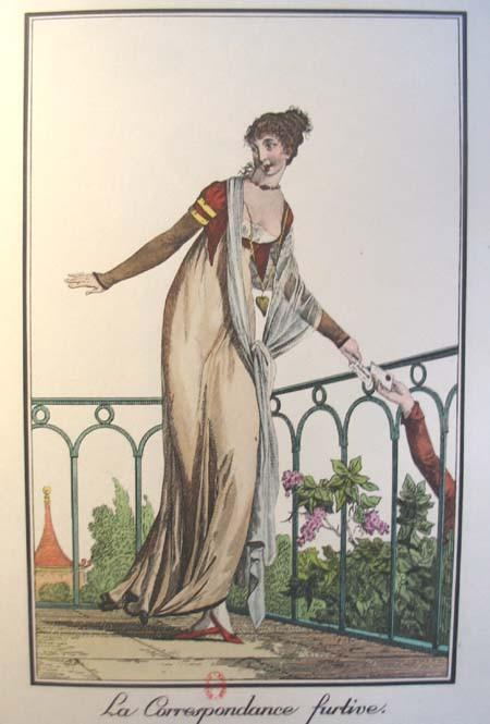 Gravure de mode Premier Empire <br>© Fondation Napoléon