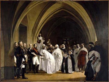 Louis Napoléon prince président annonçant à Abd-el-Kader sa libération au château d'Amboise, le 16 octobre 1852
