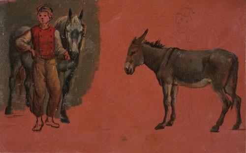 Girodet, Ane et garçon d'écurie, Montargis, Musée Girodet. Cliché Jacques Faujour – Musée Girodet