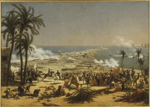 Lejeune, La bataille d'Aboukir, Musée national du Château de Versailles. (C) RMN, Blot, Schormans
