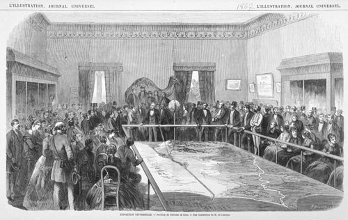 Blanchard, Journal Universel - Exposition universelle, une conférence de Lesseps. Musée Carnavalet
