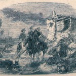 """""""Les inondations de 1856"""" Almanach  de Napoléon, A. Houssiaux, 1857"""